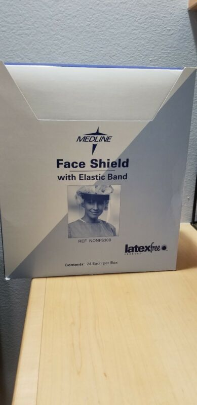 Medical Face Shields with Elastic Band 1 Box Of 24