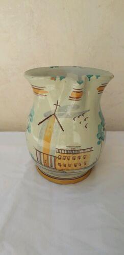 Brocca per vino caraffa  decorata a mano in ceramica di Caltagirone da 1 litro