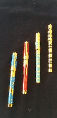ST DUPONT LES ELEMENTS 4 PEN SET: NEW AND ALL 4 MATCHING NUMBERS