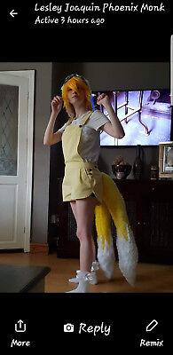 Cosplay anime manga Human tails sonic the hedgehog ears and tails suit. 3ft tail (Sonic Tails Kostüm)
