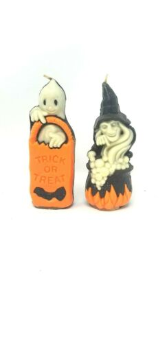 Gurley Vintage NOS Halloween Glow in the Dark Original Candles Witch Ghost    A7
