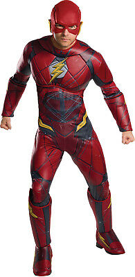 Adult Deluxe Flash Costume Justice League Movie Superhero Size Standard](Adult Flash Movie)