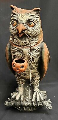 Morgue Sale: Bethany Lowe Vergie Lightfoot Owl Candy Jar Retired over 10 yr MINT