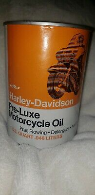 Vintage quart oil can Harley Davidson