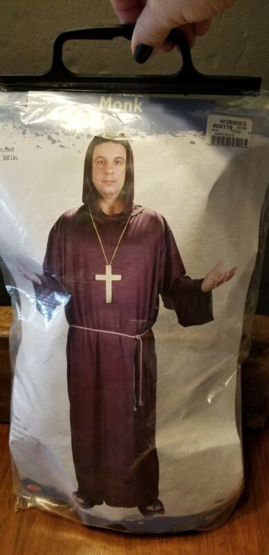 MONK HALLOWEEN COSTUME ONE SZ FITS MOST