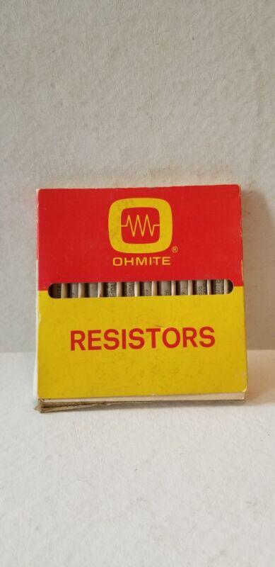NOS OHMITE Resistors Stk. No. 4835 11 Watts 3000 PJMS 10 Qty.