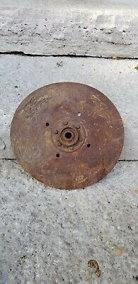 Vintage Plow Disc Blade Old Farm Equipment 11 Inch Flat With Center Bushing