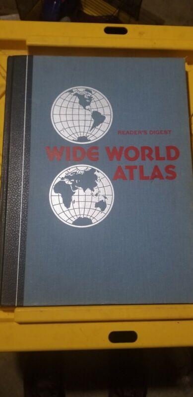 Vintage world atlas book