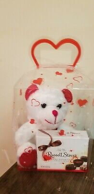 All Occasions Woman Decorative gift box Teddy Bear and Russell Stover Candy Box