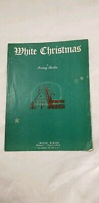WHITE CHRISTMAS Vintage Sheet Music  Christmas Holiday Song 1940 Piano Guitar ()