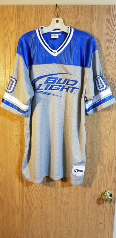 Bud Light #00 Sewn Football Jersey Adult XL