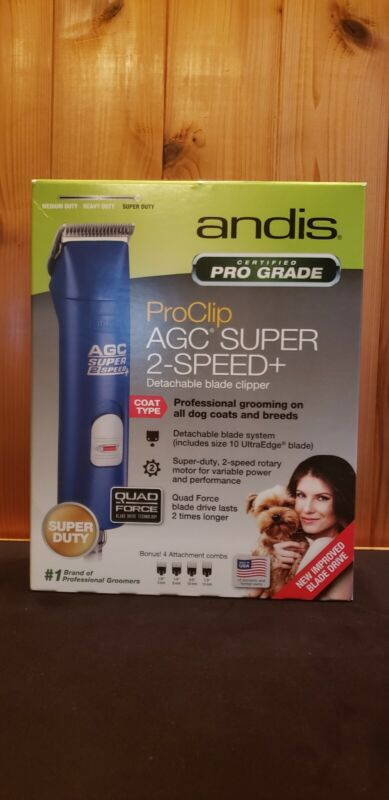 Andis ProClip AGC Super 2-Speed Clippers for Dogs! W/ 4 Bonus Combs! BRAND NEW!