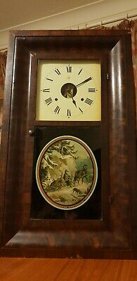 Antique seth thomas  weigh driven clock oversized 1885