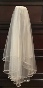 Wedding Bridal 2 Tier Tulle Veil with Comb