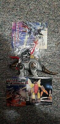 Transformers G1 Generation 1 Vintage Dinobot Slag Near Complete Gun Missile