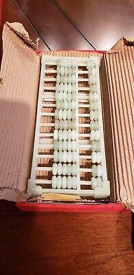 RARE Vintage JADE Abacus Mounted On Jade 2nd - In Original SILK Box!