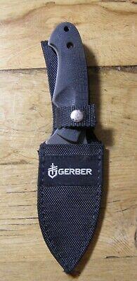 Gerber 1910313A Fixed Blade Knife w/Sheath Gut Hook Fine Blade Edge Guthook Fine Edge Knife