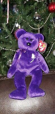 TY Beanie Baby 1997 1st Edition Princess Diana Bear RARE!