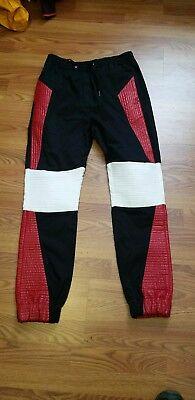 GOD'S MASTERFUL CHILDREN MEN'S BLACK RED WHITE PANTS SZ XL 29 INSEAM