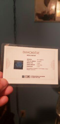 Genuine 3mm Black Diamond Set In 14k Rose Gold  - $60.00