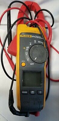 Fluke 374 Fc Acdc True Rms Clamp Meter Multimeter Wleads Working Condition.