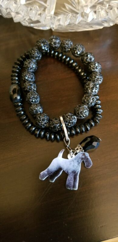 AKC Kerry Blue Terrier Dog Breed  Bead Bracelet Handmade FREE SHIPPING only 1