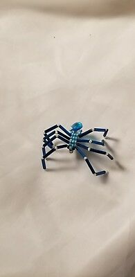 Spider Clip Brooch Jewelry Blue White Bug Arachnid New Costume Jewel Gold Legs (Jewel Spider)