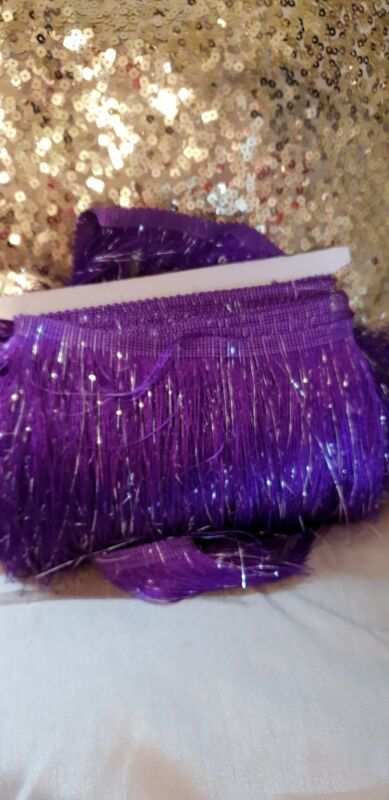 Purple+Fringing+Tassel+with+silver+highlights+price+seen+is+per+yard...
