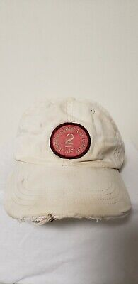 Abercrombie and Fitch AF Distressed Hat Cap White Men Women 2 Pink