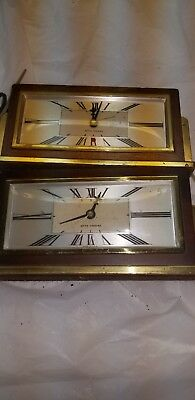 Vintage Retro Mid Century Seth Thomas Baxter Model E Electric 2 Clocks