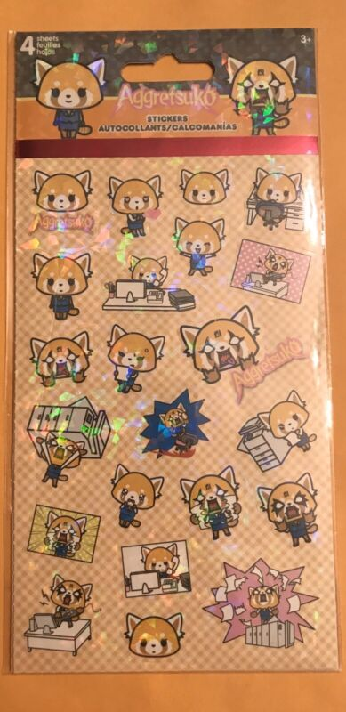 NEW Sanrio Aggretsuko Hologram Stickers NIP