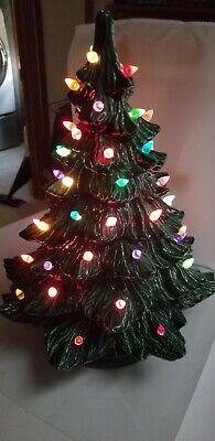 Vintage Ceramic Large Christmas Tree Musical