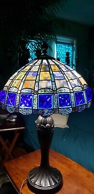 Vintage Tiffany Stain Glass Blue (Shade Only)