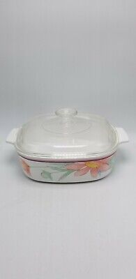 Corning Corelle Peony A-2-B 2 quart covered casserole with A 9 C lid