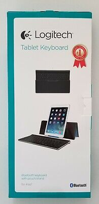 NEW- Logitech Tablet Keyboard With Stand for iPad, 2, 3/4th Gen, Air & iPad Mini