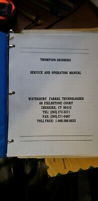 Thompson Grinder Model T3b Surface Grinder Service And Operating Manual