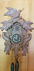 Vintage Cuckoo Clock Mfg Co Small German Cuckoo Clock