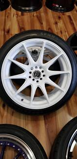 "18"" hussla 527 wheels and tyres mazda ford"