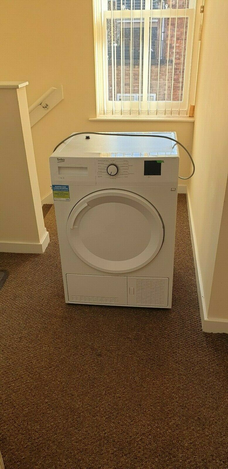 BEKO DTBC7001W 7 kg Condenser Tumble Dryer - White - Manufa. Warranty to 27/0720