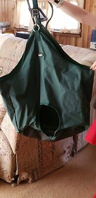 "Tough-1 Tough Nylon Tote Hay Bag with 8"" Porthole Mesh Back 20"" x 30"" Green"