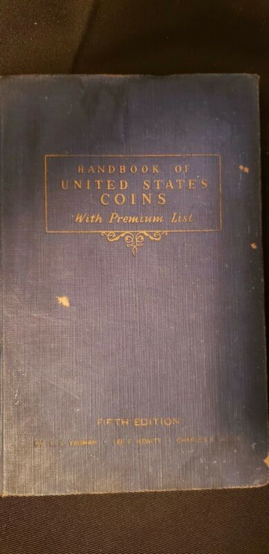 1943 Handbook of United States Coins Blue Book Fifth Edition - R.S. Yeoman