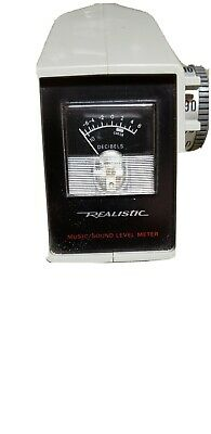 Realistic - Vintage Electronic Music Sound Level Decibel Meter Working