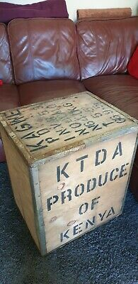 Vintage Original circa 60's large tea chest mancave coffee table M6 Jct 15/16