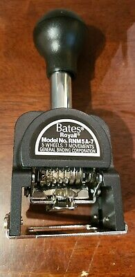 Bates Royall Automatic Numbering Machine Model Rnm5a-7