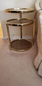 Brass Table with Glass
