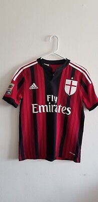 ADIDAS CLIMA COOL AC MILAN 2014/15 EL SHAARAWY  92 youth SIZE L SOCCER JERSEY  image