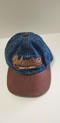Vtg Tennessee Volunteers Tn Vols Denim Official Strapback Hat Cap - Tennessee Volunteers Hats