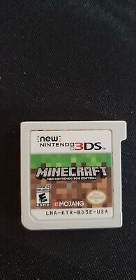 Minecraft: New Nintendo 3DS Edition Tested Free Shipping Loose Cart
