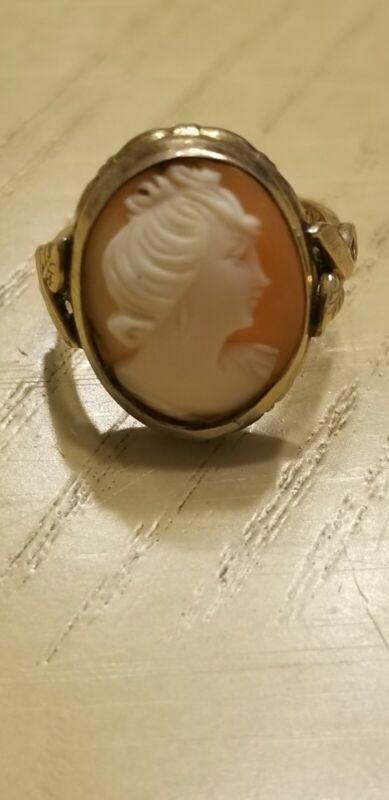 Vintage 10k GF Cameo Ring