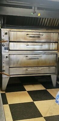 Bakers Pride 451 Natural Gas Double Deck Pizza Ovens Good Stones